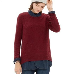 MADEWELL~Back Zip Pullover Sweater~M
